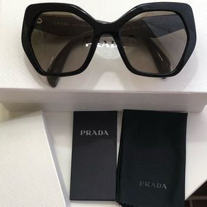 Prada Two-Color Geometric Sunglasses